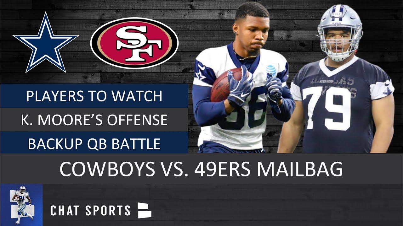 114b82d5 Cowboys vs. 49ers Preseason: Kellen Moore's Offense, Players To Watch &  Backup QB Battle | Mailbag
