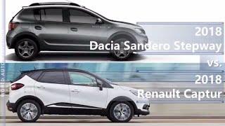 2018 Dacia Sandero Stepway vs 2018 Renault Captur (technical comparison)
