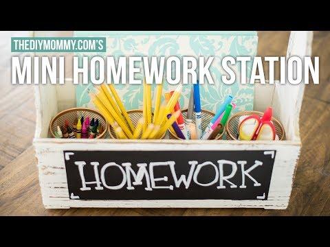 DIY Mini Homework Station for Back to School | The DIY Mommy