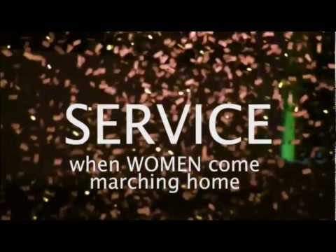 SERVICE: WHEN WOMEN COME MARCHING HOME | Women Make Movies | Clip