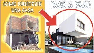 Como construir una casa PASO A PASO !!