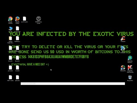 New EXOTIC Ransomware V2.0!Demonstration of attack video review.