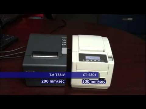 Citizen Systems Ct S801 Vs Epson Tm T88iv Speed Comparison