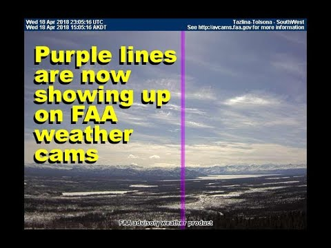 Why are vertical purple lines appearing on lots of FAA weathercams? Apr 20 2018