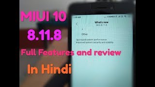 MIUI 10 8.11.8 Full Features and Review in Hind