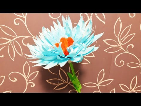 3D ЦВЕТОК из БУМАГИ Своими руками ПОДАРОК Маме на 8 Марта, На День Рождения (Эмилия) ОРИГАМИ