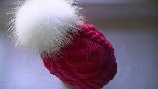 Вяжем шапку  узором
