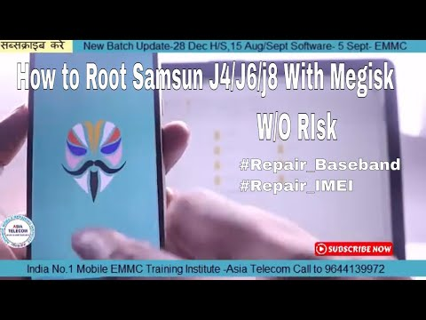 How to Root Samsun J4/J6/j8 With Megisk App W/o Risk(TWRP/CF Auto