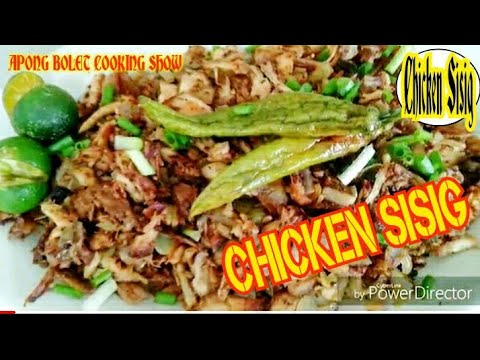 HOW TO COOK CHICKEN SISIG ( Left Over Fried Chicken , Kapampangan Recepi )