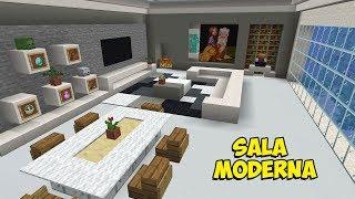 Minecraft: Como Construir uma SALA MODERNA com AQUÁRIO