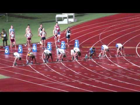 100M Final 14M Joshua Cowley 11.51 Qld School State Championships 2015