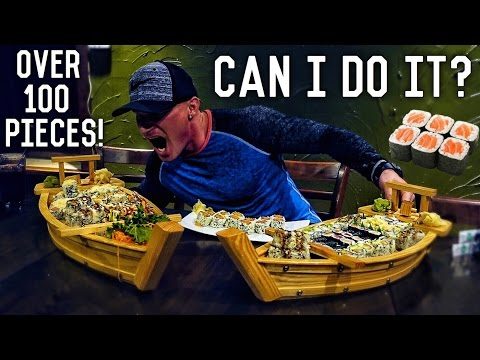 All You Can Eat Sushi Challenge | EPIC CHEAT MEAL