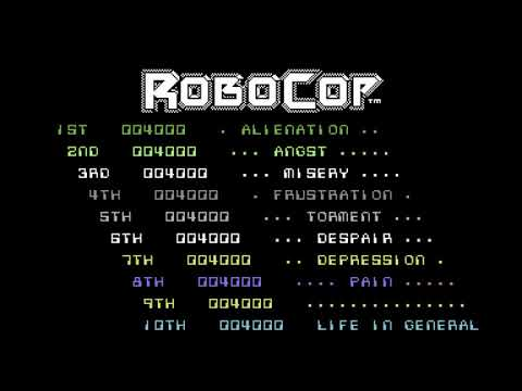 Robocop (1989, Ocean) Title Screen Music - Commodore 64