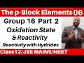 Download Video The p-Block Elements 06 :Group 16 Elements -2 : Oxidation State & Reactivity + Reactivity of Hydride MP4,  Mp3,  Flv, 3GP & WebM gratis