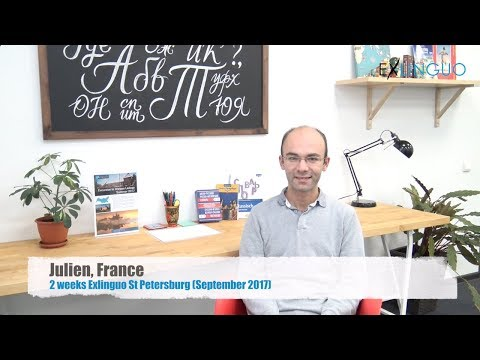 Julien sharing (in French) his experience learning Russian in St Petersburg at Exlinguo (Sept. 2017)