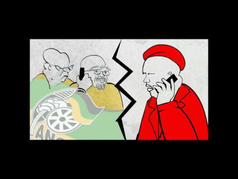 """PARODY: Julius Malema sings """"He'll have to go"""". Made by Noseweek cartoonist Stacey Stent"""