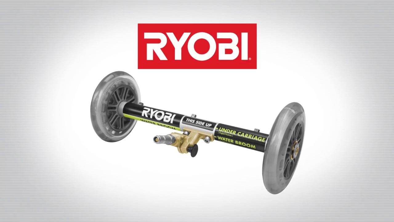 Ryobi Pressure Washer Water Broom Youtube