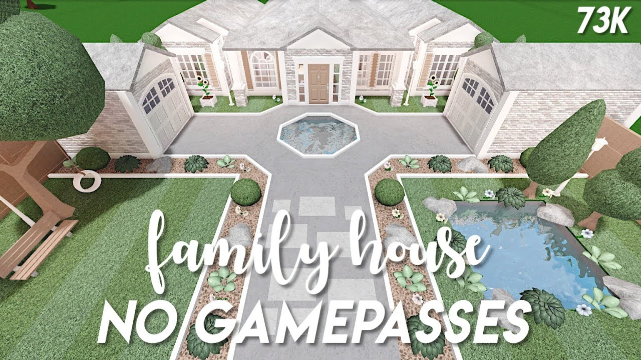 No gamepasses family house Bloxburg speedbuild YouTube