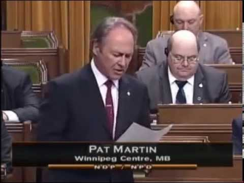 MP Pat Martin Statement on Labour Movement  -  May 26th, 2015