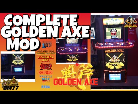 ARCADE1UP GOLDEN AXE COMPLETE MOD from GameMom77