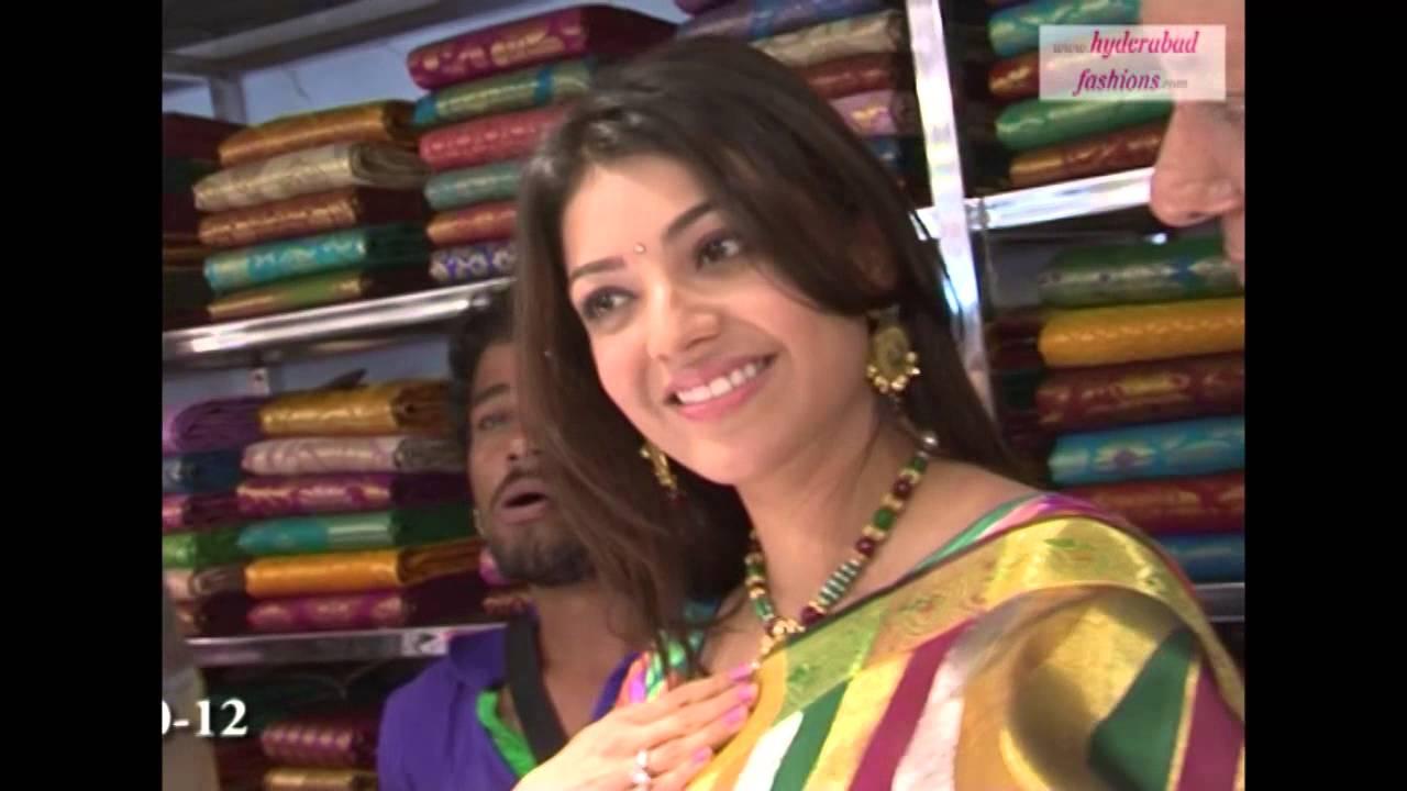 ad79d1822c8 Actress Kajal Agarwal inaugurated Kalaniketan Showrrom in Himayat Nagar at  Hyderabad - YouTube