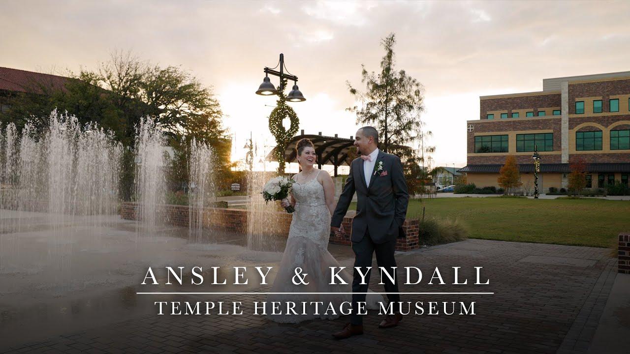 Ansley & Kyndall - Beautiful Downtown Temple Texas Wedding Film