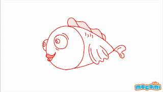 How to draw a Fish (Step by Step Guide)   Mocomi Kids