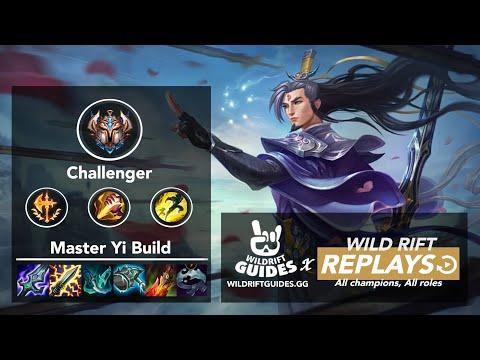 Wild Rift Master Yi Jungle Challenger Ranked Gameplay