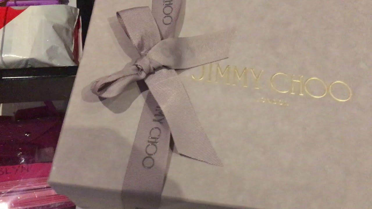 747fcf0a164a6 Jimmy Choo Keely 100 Unboxing - YouTube