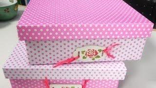 Repeat youtube video Como forrar una caja de carton con cartulinas - Maria Jose Roldan