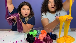 Colored Scrunchies Pick My Slime Ingredients Challenge