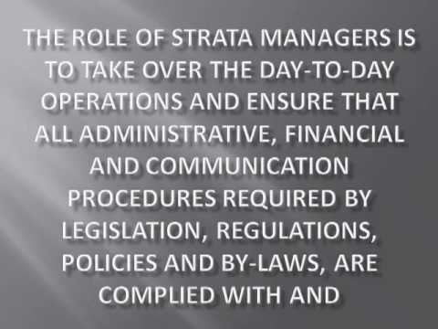 Strata Managers Role Documented in the Management Agreement