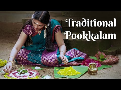 Onappookkalam, How to put Pookkalam | The Traditional Way of
