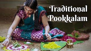 Onappookkalam, How to put Pookkalam   The Traditional Way of Making Onam Pookkalam