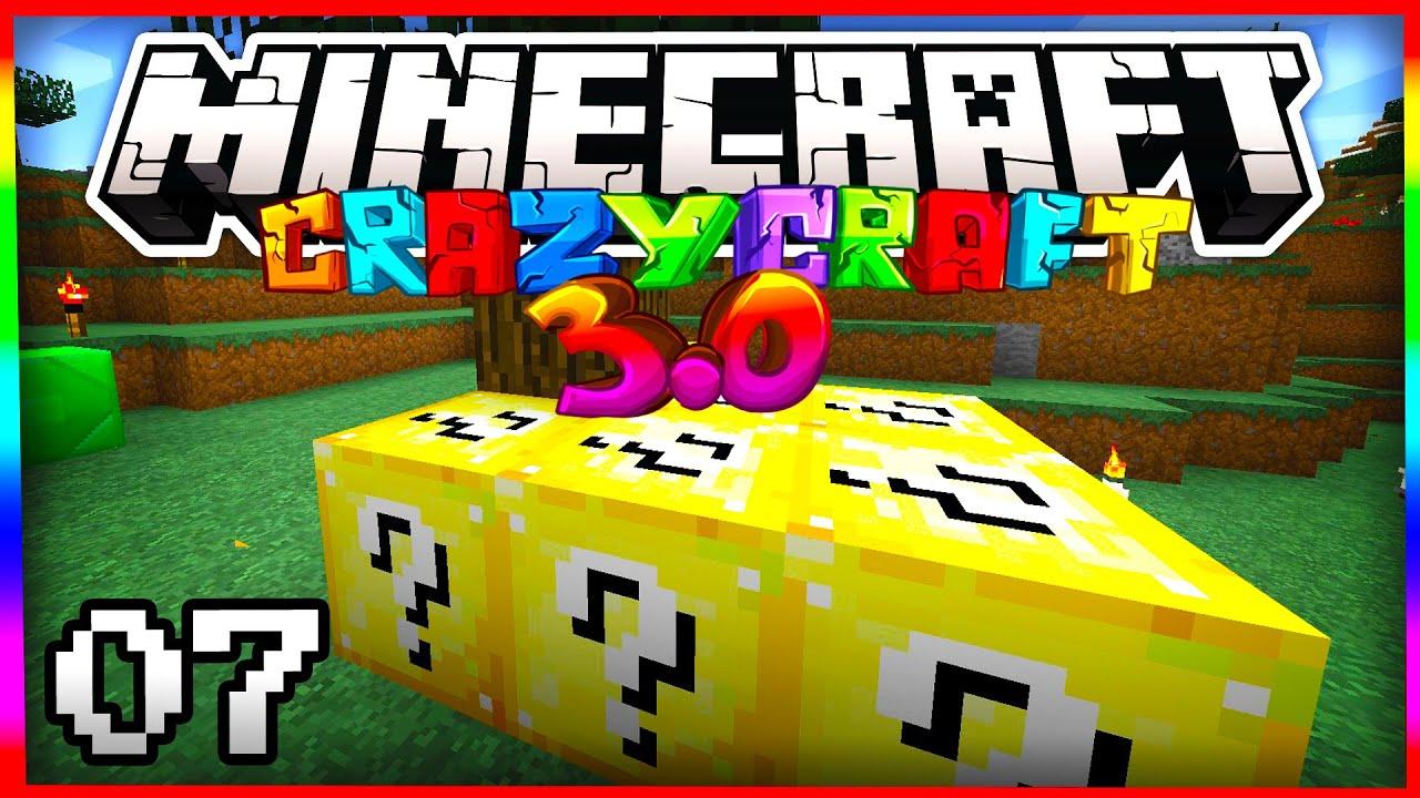 Minecraft crazy craft 3 0 quot lucky block questionnaire quot 7 smp server