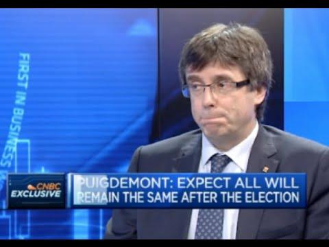 Sideral ridículo de Puigdemont en la CNBC
