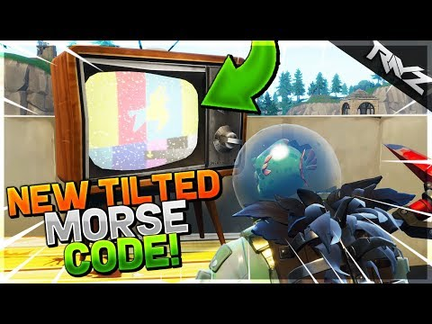 NEW SECRET MORSE CODE MESSAGE ON TILTED TOWERS! THEY DONT WANT US TO KNOW! - Fortnite: Battle Royale