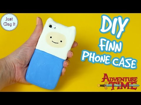 ♡ DIY ♡ ADVENTURE TIME silicone phone case! How to make FINN phone case