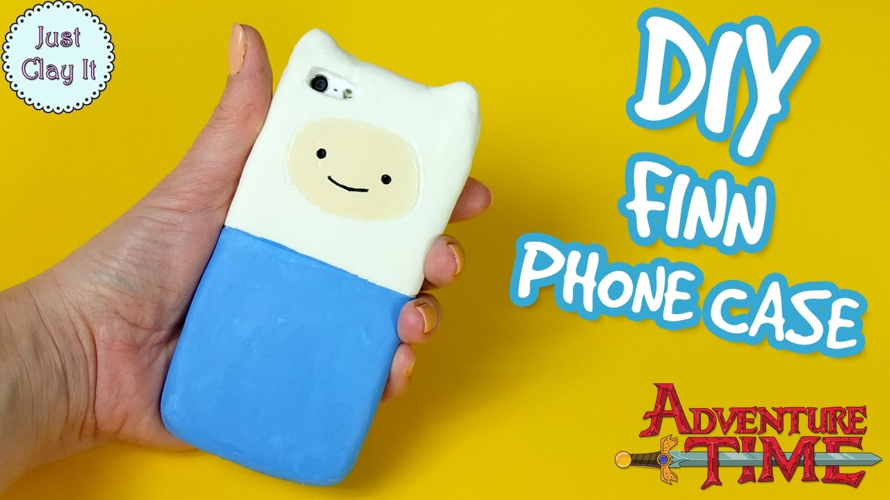 Diy adventure time silicone phone case how to make finn for How to make a homemade phone case