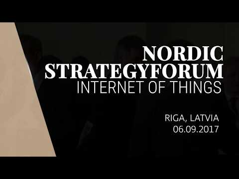 Menny Barzilay, CEO, FortyTwo, Nordic StrategyForum Internet of Things 2017, Latvia