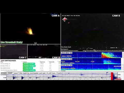 Monitoring Agung, Bali (4) lava glow & quake in Java 2017-12-18