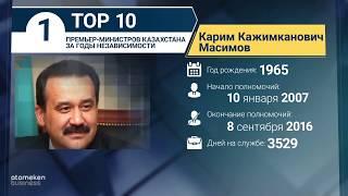 ТОП-10 премьер-министров Казахстана за годы независимости