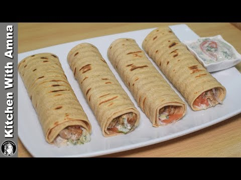Turkish Kabab Roll Recipe With Turkish Sauce by Kitchen With Amna