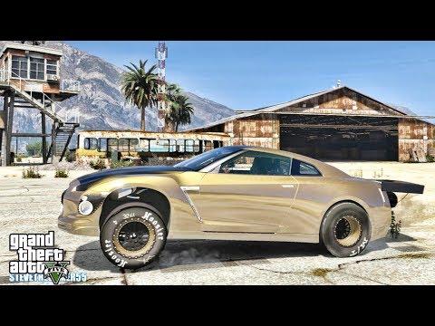 GTA 5 REAL LIFE MOD #628 - 3300HP GTR (GTA 5 REAL LIFE MODS) 4K