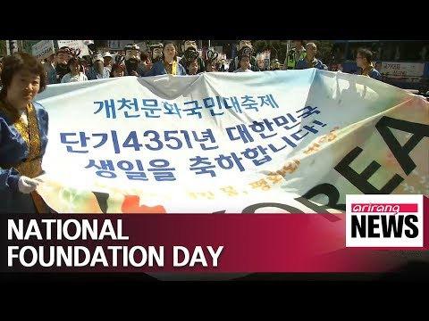 Celebrating the birth of Korea on National Foundation Day