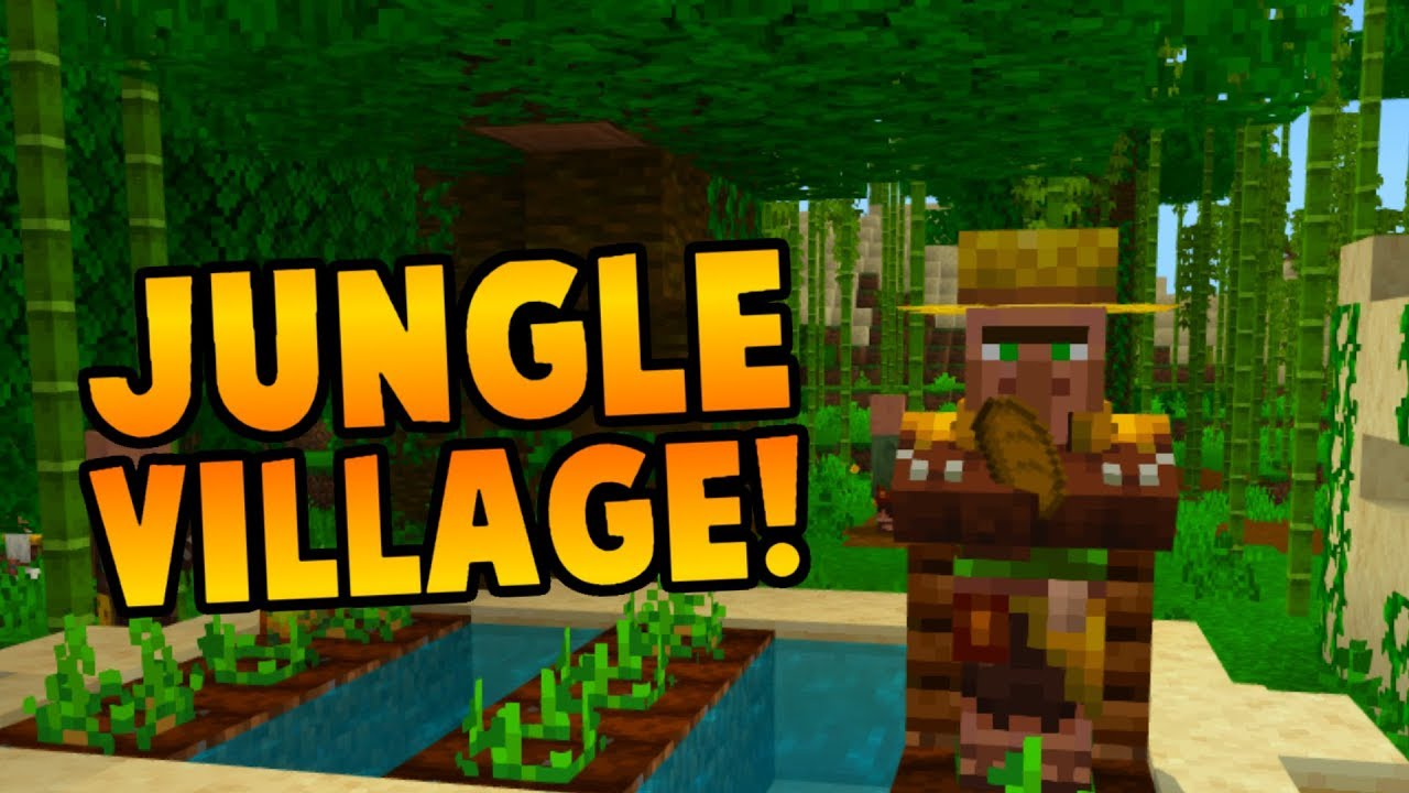 Naturally Spawning Jungle Villagers At Spawn Seed Youtube