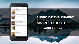 Android Development Tutorial - Swipe To Delete RecyclerView Item