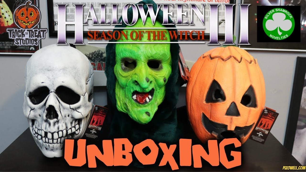 Halloween 3 Masks In 2020 Trick or Treat Studios Halloween 3 Masks Unboxing   YouTube