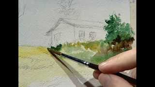 Arcadio paints the little house of his grandmother 1/ La pequeña casa de mi abuela 1.