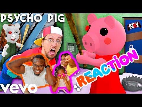 FGTeeV 🎵 PSYCHO PIG -Official Music Video (Roblox PIGGY Song)(Reaction)
